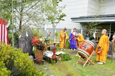 草木塔祭・飯豊山登拝出発式