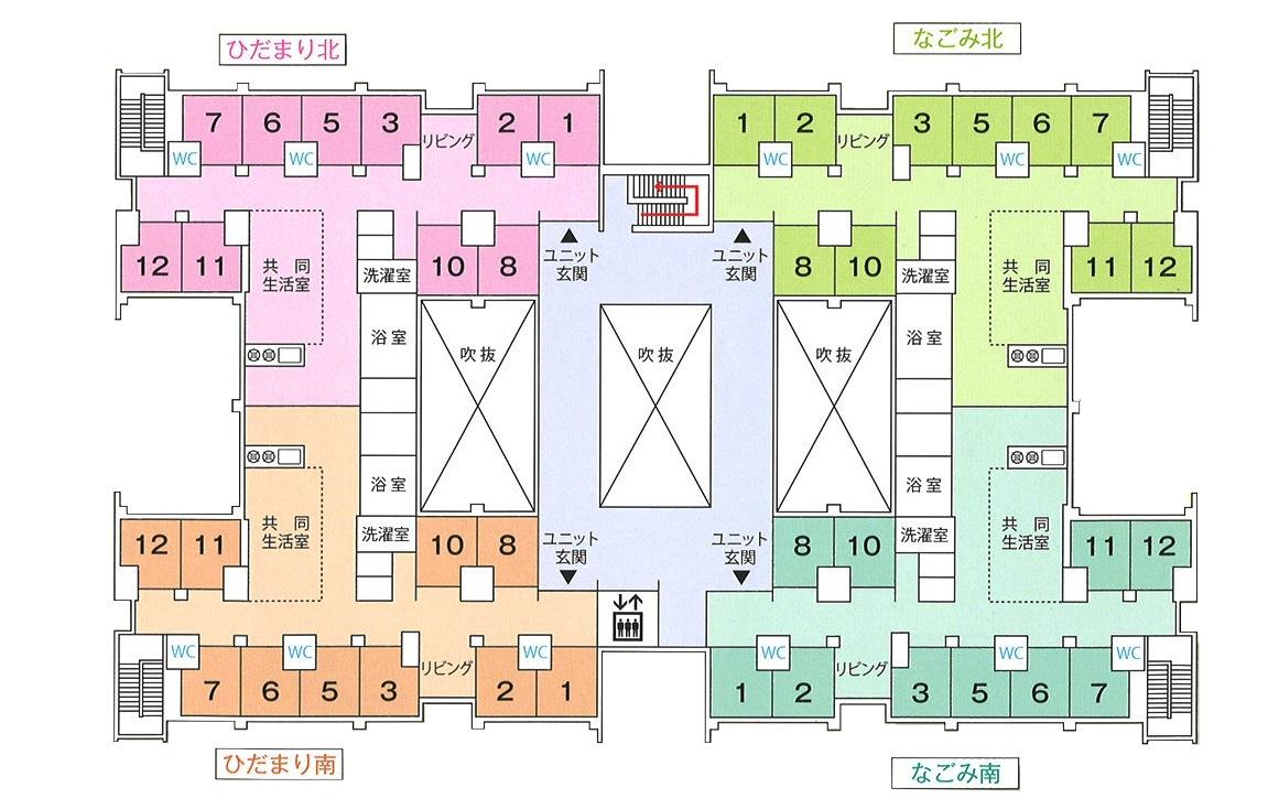 施設マップ(2F)