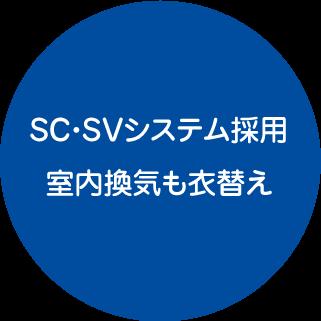 SC・SVシステム採用・室内換気も衣替え