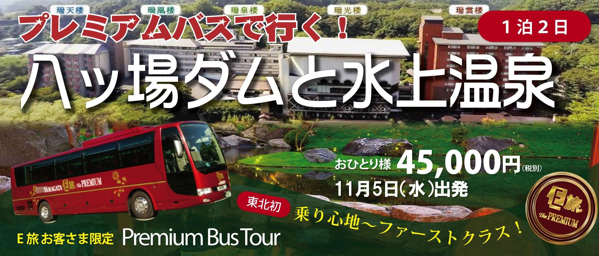 プレミアムバスで行く!八ッ場ダムと水上温泉★11月5日(水)1泊2日