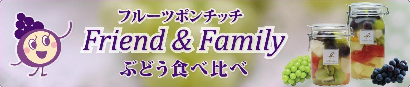 フルーツポンチッチFriend&Family〈ぶどう食べ比べ〉シャインマスカット・ナガノパープル・ピオーネ