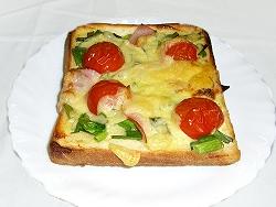 行者菜ピザトースト