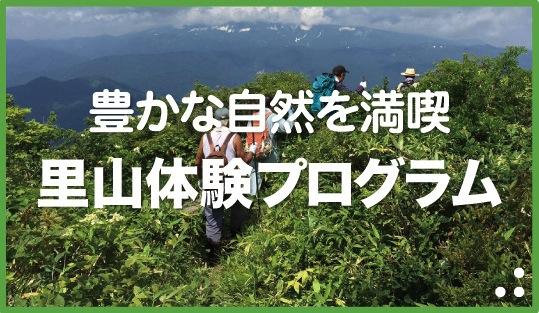 豊かな自然を満喫・里山体験プログラム
