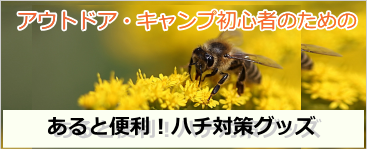 外でハチに刺されないように