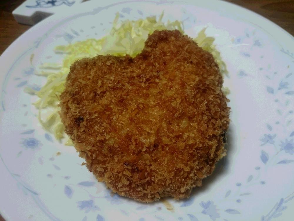 奥様の バレンタインは メンチカツ:画像