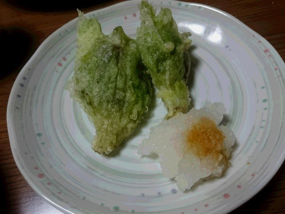 天ぷらで いただきました 春の使者:画像