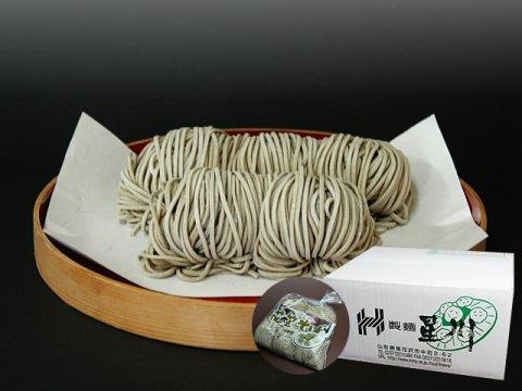山形県尾花沢 星川のなま麺 花笠そば(田舎蕎麦)得用まとめ買い(5食×10袋/つゆ付):画像
