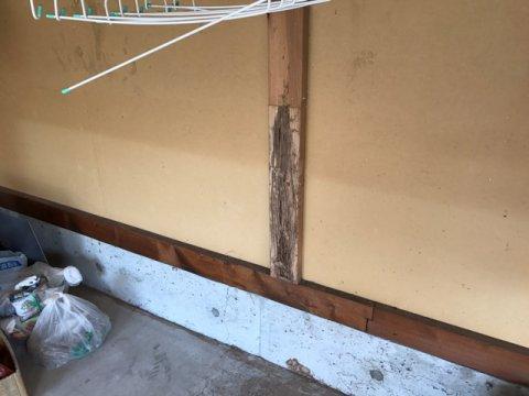 シロアリ被害の修繕工事:画像