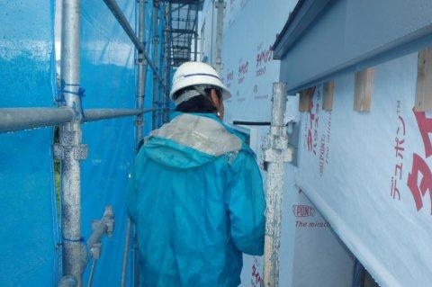 【新築住宅】山形市みはらしの丘 T様邸 防水検査:画像