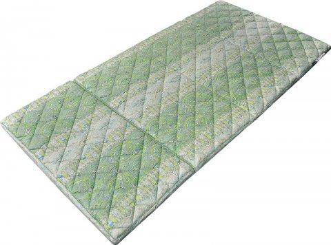 ロイヤルパトラ(四つ折敷布団/グリーン):画像