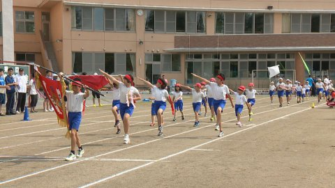 7月16日〜放送みんなの世界 川西町立玉庭小学校「運動会」:画像