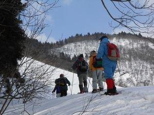 熊野山スノートレッキングを開催しました:画像