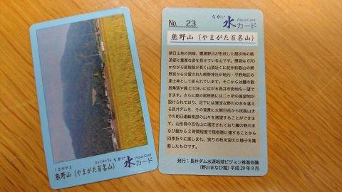 「ながい水カード」NO.23を発行しました。:画像