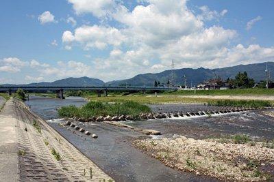 【谷地橋と野川のおだやかな流れ】:画像