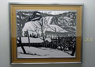 【丸大扇屋で菊地隆知木版画展開催中です】:画像