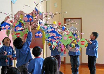【小正月のだんごさげ〜西根児童センター】:画像