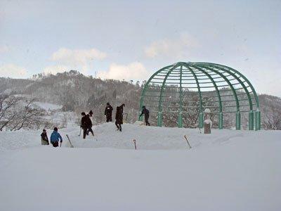 【カウントダウン〜ながい雪灯り回廊まつり2011】:画像