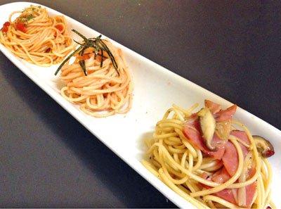 【つや姫の麺と油で特製パスタを!】:画像