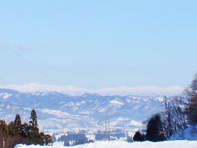 【道照寺平スキー場から…蔵王が!?】:画像