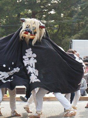 【第24回ながい黒獅子まつり〜寺泉 五所神社】:画像