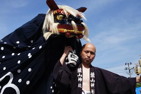 【第26回ながい黒獅子まつり〜葉山神社(白兎)】:画像