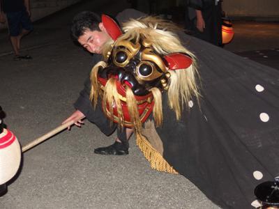 【〜泉〜羽黒神社の獅子舞】:画像