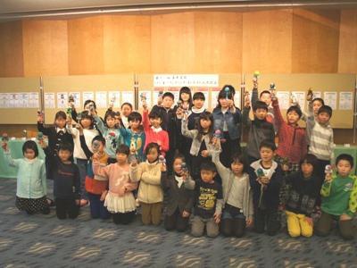 【第11回けん玉ペインティングコンテスト表彰式】:画像