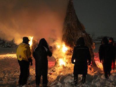 【小正月の伝統行事『ヤハハエロ』】:画像