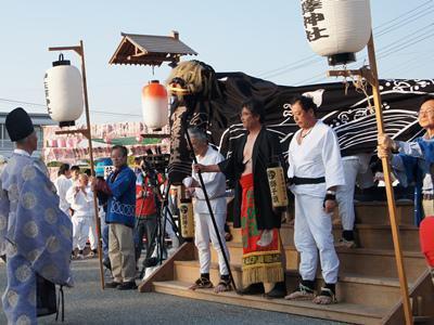 【第28回ながい黒獅子まつり−伊佐沢神社(上伊佐沢)−】:画像