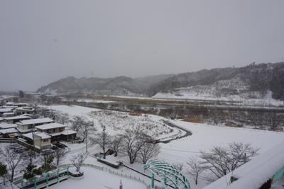【大雪の長井市】:画像
