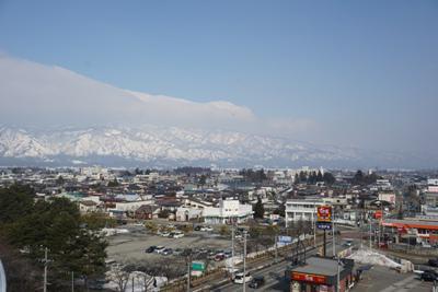 【雪解けの長井市】:画像