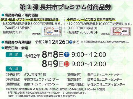 【第2弾「長井市プレミアム付き商品券」の販売】:画像