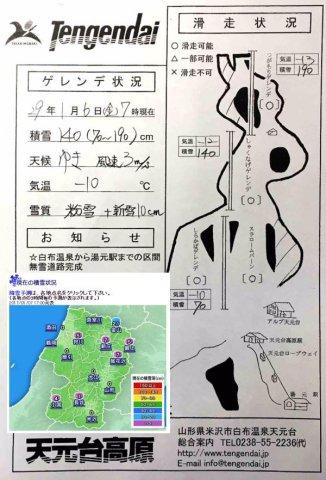 米沢市内積雪ゼロ(公称値)でも山奥には140cm!(天元台高原):画像