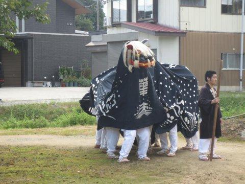 葉山神社のお獅子:画像
