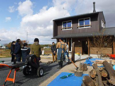 【ワークショップ】 交流の進んだ、DIY薪棚づくり:画像