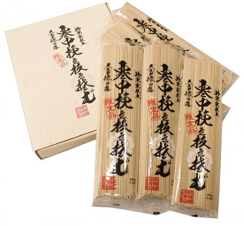 天童織田藩「寒中挽き抜き蕎麦」限定品 1,820円:画像