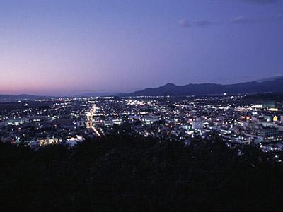 舞鶴山から見る天童の夜景♪:画像