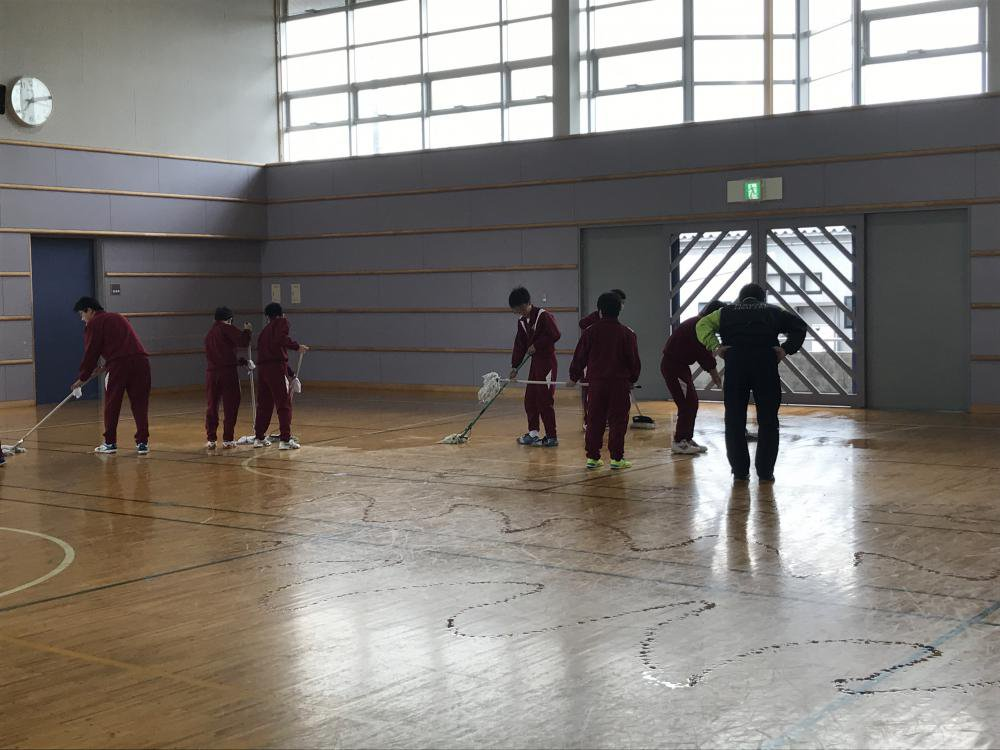 【豊田体育館のワックスがけ】をしました。:画像