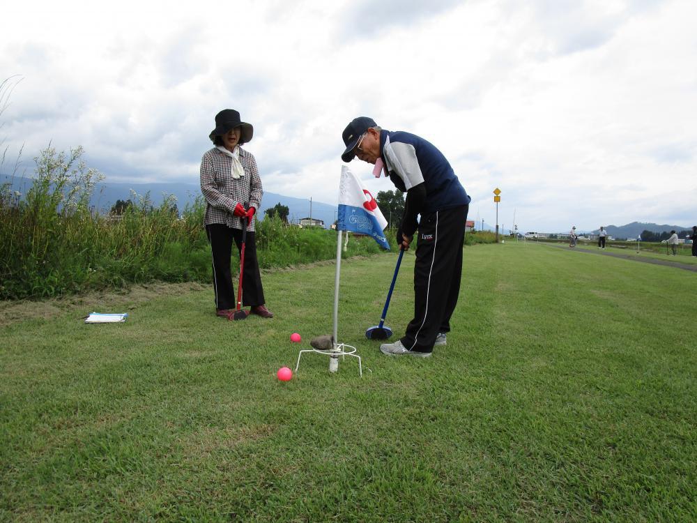 豊田地区【いきいき学級グラウンドゴルフ大会】:画像