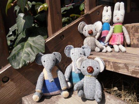 小さな手織りの動物たちが大集合!:画像