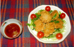 レンコンと鶏ササミのこめっこチキンナゲット