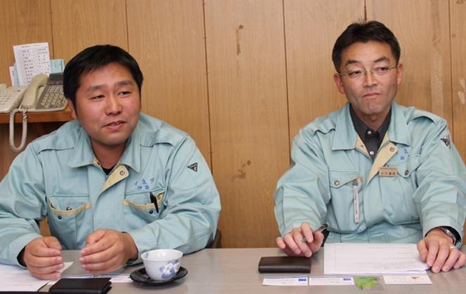 取締役副社長の伊藤さん、総務課長の山川さん
