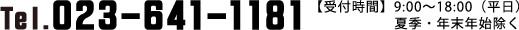 Tel.023-641-1181【受付時間】9:00〜18:00(平日)夏季・年末年始除く