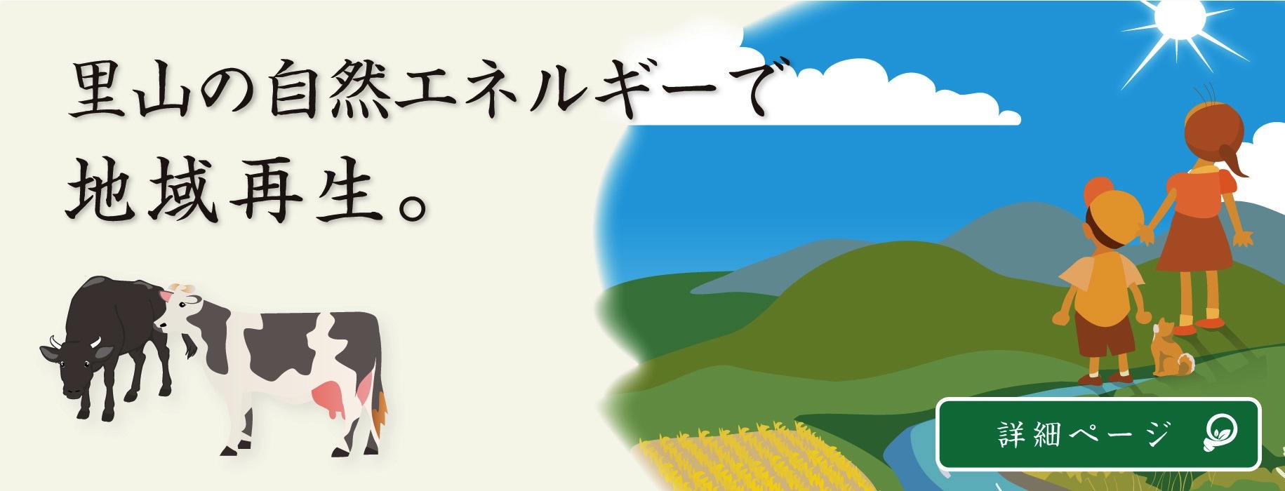 里山の自然エネルギーで地域再生。