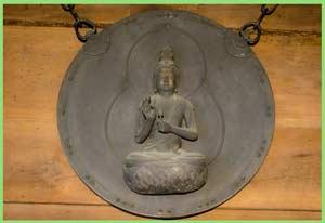 国指定重要文化財 金銅聖観音像懸仏