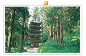 Haguro-san Five-storied Pagoda
