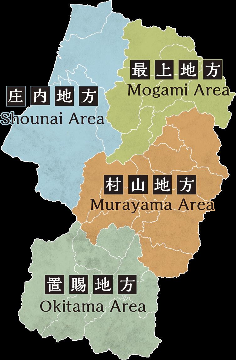 야마가타현 맵