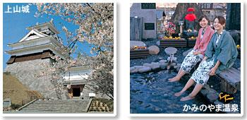 Photograph of Kaminoyama-jo Castle and Kaminoyama Hot Spring