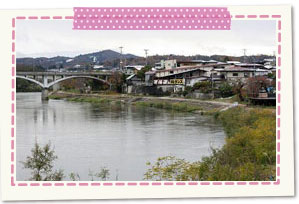 The Mogami River banks of a river