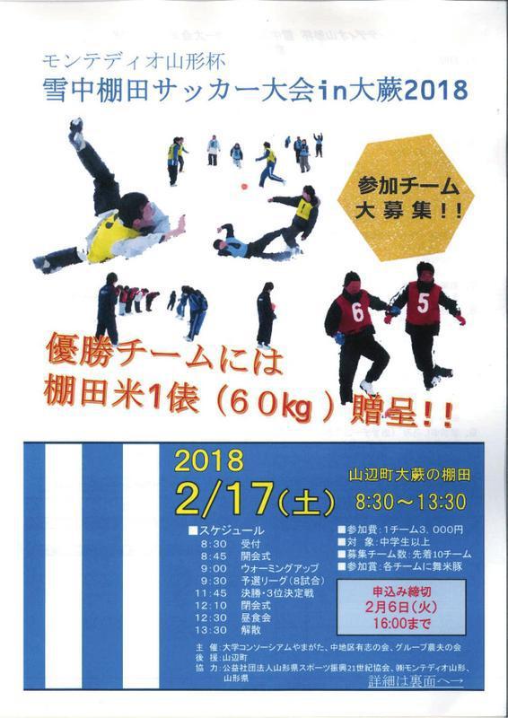 モンテディオ山形杯 雪中棚田サッカー大会in大蕨2018:画像